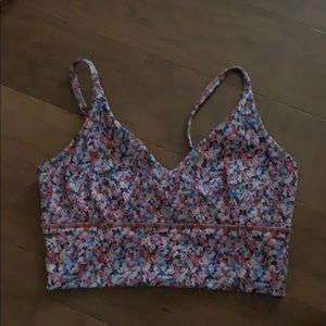 lululemon printed sport bra
